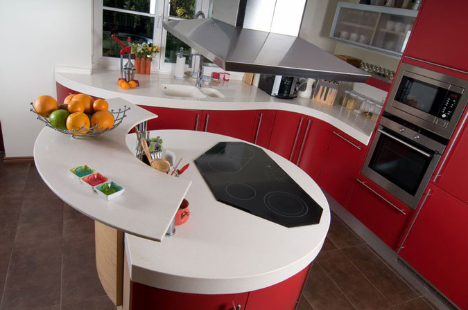 Top in corian per una cucina ultra moderna